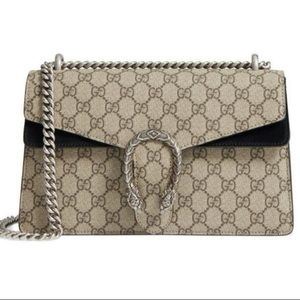 New Gucci Small Dionysus GG Canvas & Suede Bag